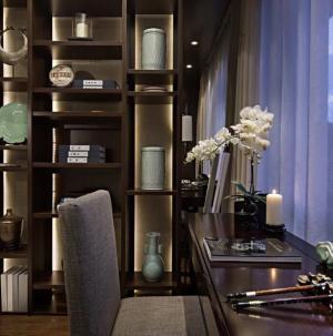 舒适个性现代风三居室装饰设计书房图片