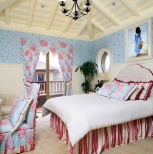 美式乡村别墅卧室设计