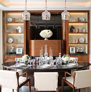 幸福舒适欧式三居室装修餐厅图片