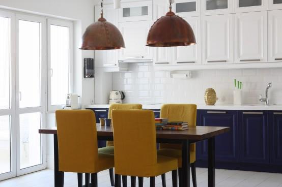 二居室混搭風格開放式廚房圖片