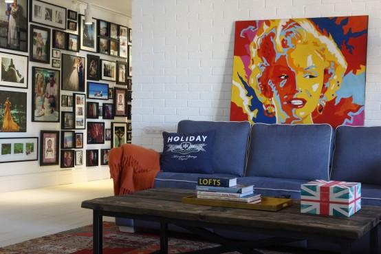 混搭風格客廳照片墻設計