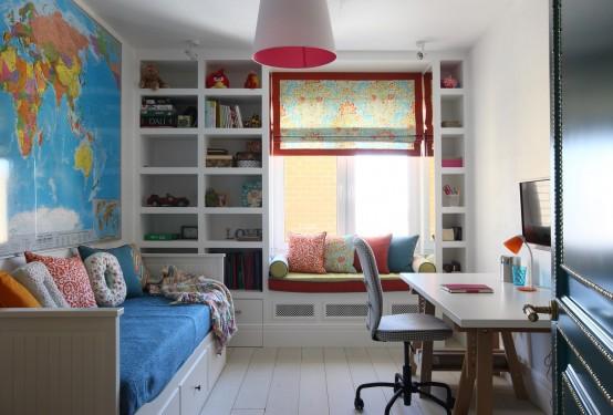 二居室混搭書房設計圖片