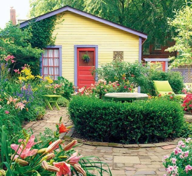 庭院小花园设计效果图花园 维客网装修效果图