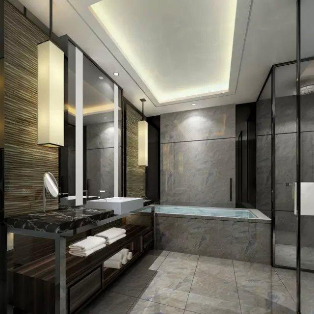 万豪酒店双人房卫生间图片
