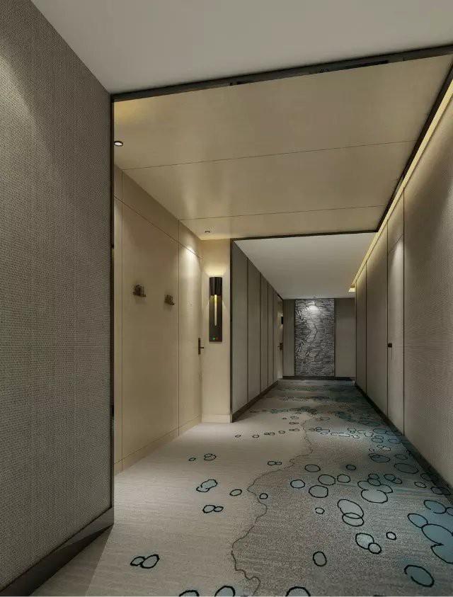 万豪酒店客房过道装修效果图