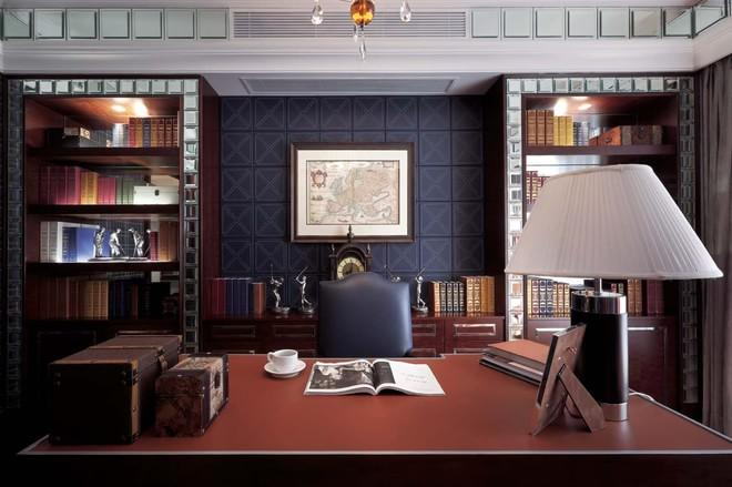 中建紅杉溪谷書房背景墻效果圖