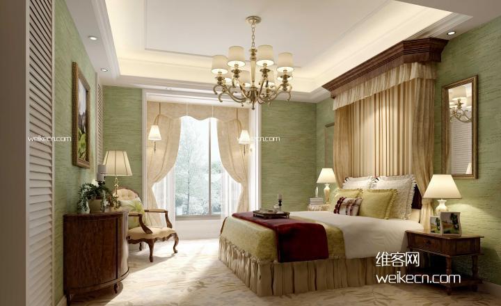 美式风格设计卧室图片大全