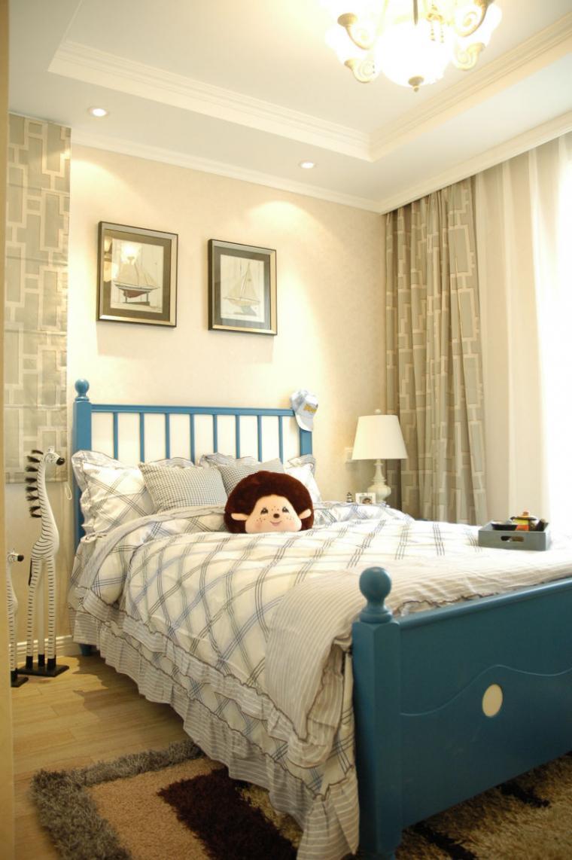 120平米温馨欧式风格卧室背景墙效果图