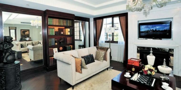 130平米欧式时尚客厅装修设计