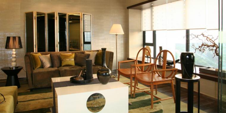 鹭岛国际现代设计风格客厅设计