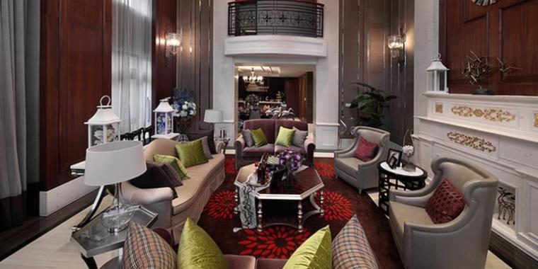 央筑花園新古典風格別墅客廳設計
