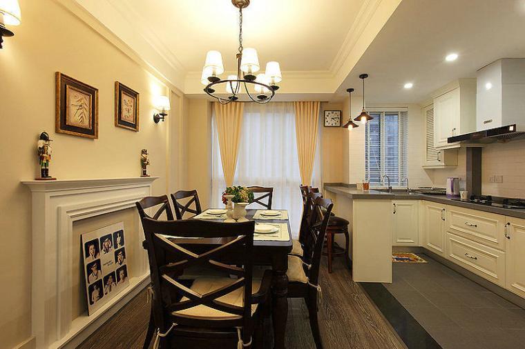 98平米简约风格餐厅餐桌设计