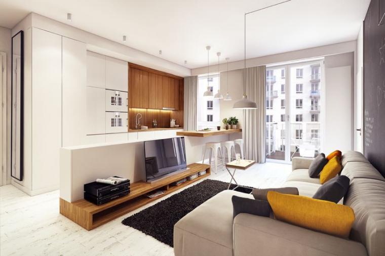 40平米小户型混搭风格客厅沙发设计