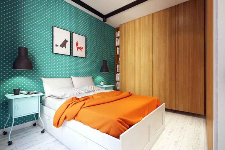 40平米小户型混搭风格卧室背景墙设计