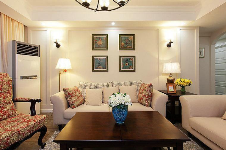 98平米简约风格客厅沙发效果图