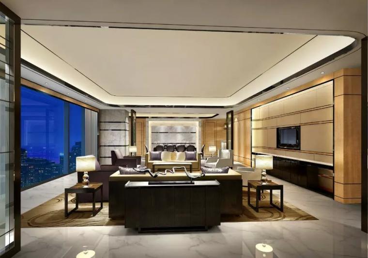 万豪酒店套房客厅效果图欣赏