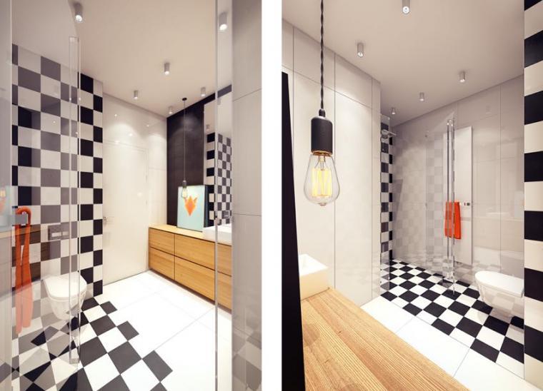 40平米小户型混搭风格卫生间背景墙效果图