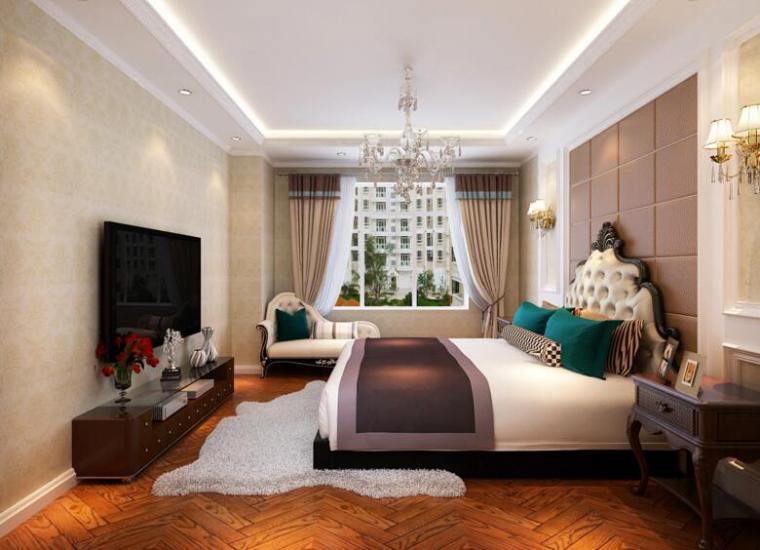 歐式現代風格別墅設計臥室效果圖