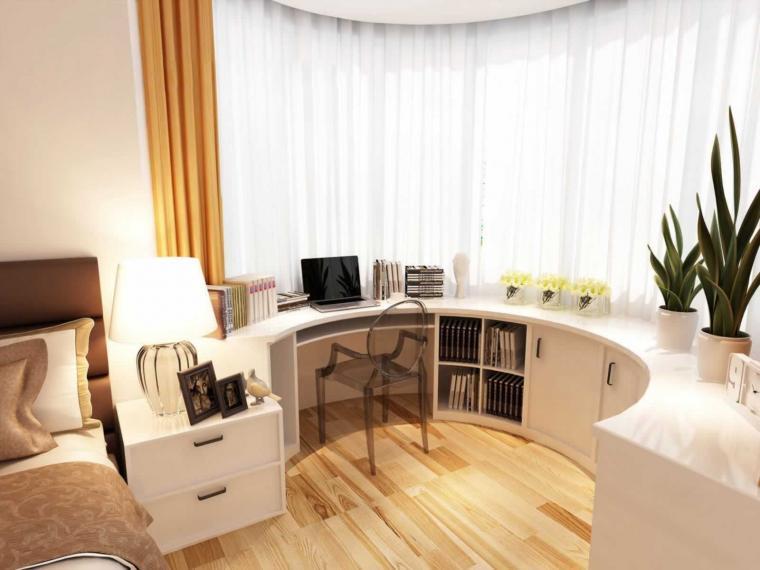 106平米簡約風格臥室工作區設計