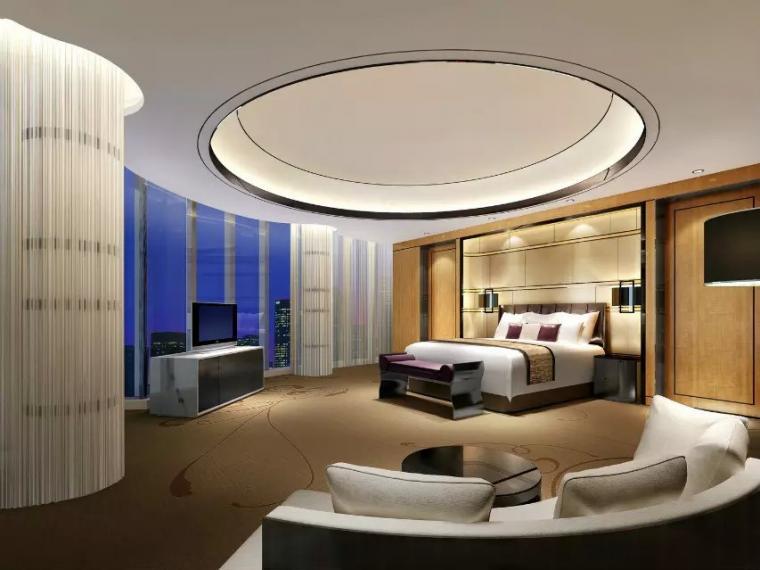 万豪酒店套房卧室设计欣赏