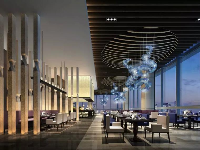 深圳万豪酒店日式餐厅设计效果图
