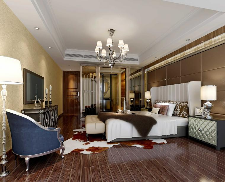 美式溫馨臥室設計圖片