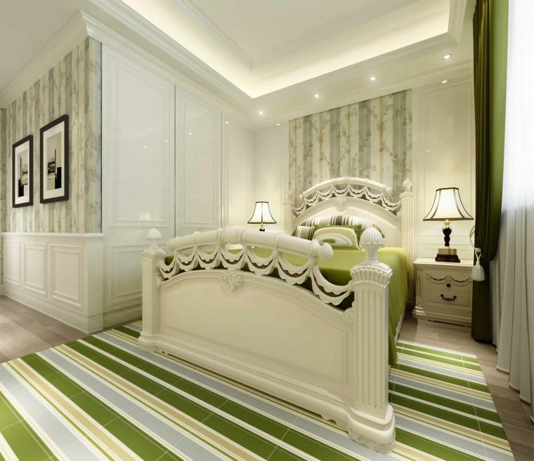 小清新美式裝修風格臥室