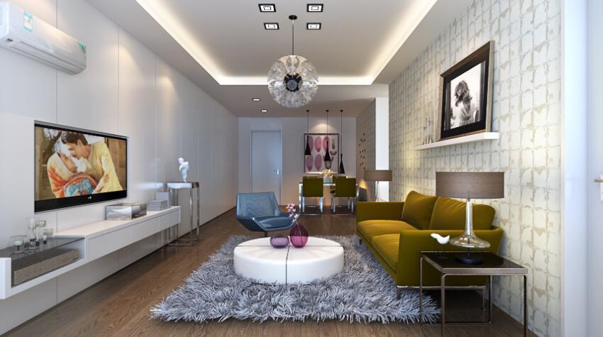 121平时尚现代风格家居装饰客厅地毯效果图 维客网装修效果图