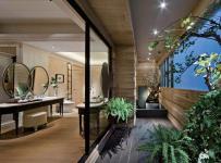 金灣華庭高端定制現代風格三居室樣板房效果圖