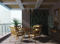 簡歐風格大躍層家居裝修