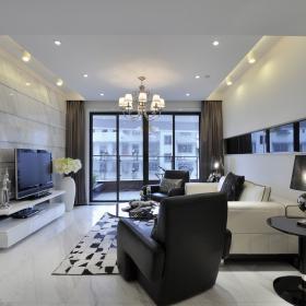 現代風格二居室家庭裝修樣板間圖片