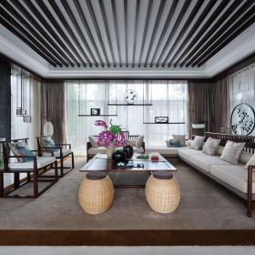 中国院子新中式新东方禅宗风格效果图