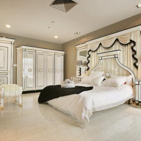 簡歐風格三居室裝修樣板房圖片