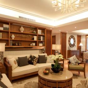 東南亞風格三居室家庭裝修案例設計圖