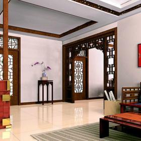 中貿廣場中式風格四居室家庭裝修設計圖