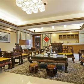 中式風格現代式住宅效果圖
