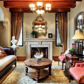 古典風四居室家裝樣板間案例圖片