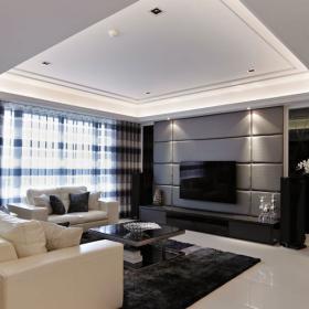 現代風格三室三廳裝修效果圖