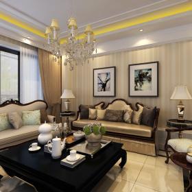 簡歐風格三居室裝修樣板房