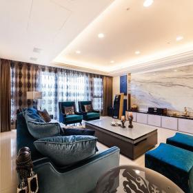 現代新古典四居室樣板效果圖