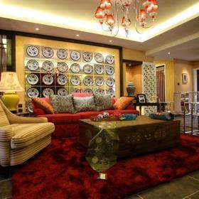混搭風格四居室樣板間設計案例