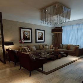 現代簡約四居室裝修樣板間效果圖