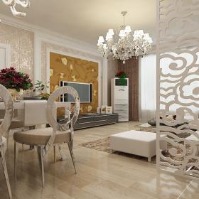 現代簡約家庭裝修三居室設計圖