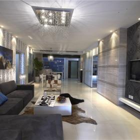 現代簡約四居室裝修樣板圖片