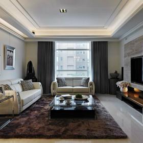 現代風格三居室裝修樣板圖