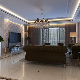簡歐風格四居室裝修設計