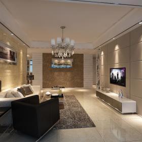 現代簡約風格四居室裝修設計