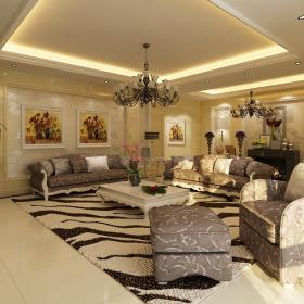 華隆里四居室家庭簡歐裝修設計圖
