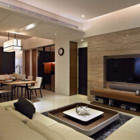 舒適三居室戶型簡約案例設計圖