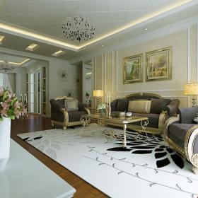 柏悅公館現代簡約風格家庭三居設計圖